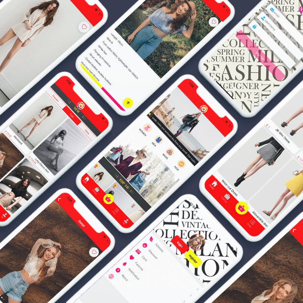 Ionic clothes shopping App