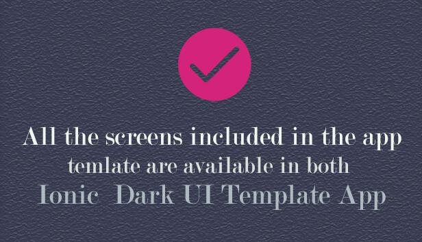 Ionic 5 UI Theme Template App App Preview Description