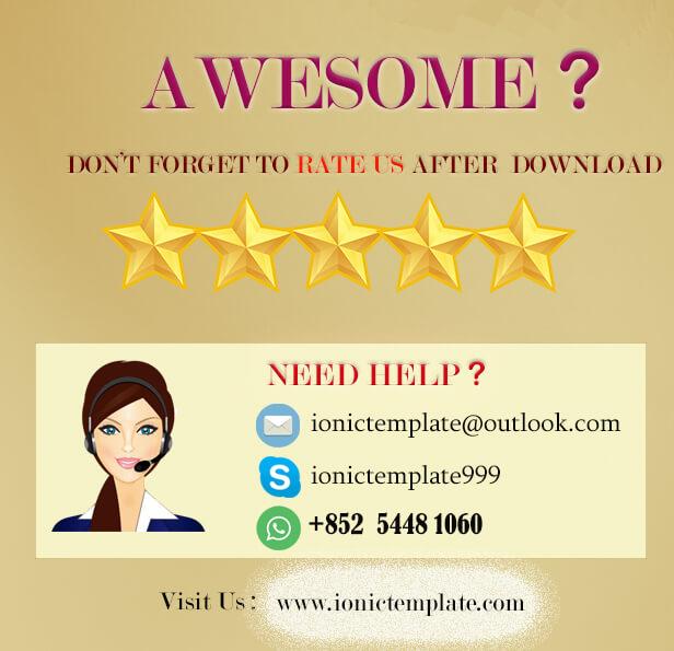 Ionic 5 UI Theme Template App